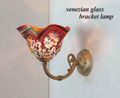 ベネチアングラスブラケットランプ fc-w634gy-fantasy-smerlate-arlecchino