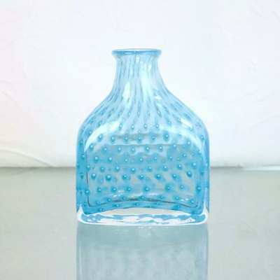 Azzurro Glass Studio flower base・花瓶 dot-bottle-aquablue