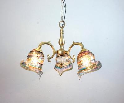 ベネチアングラスシャンデリア  fc-531-calla-sbruffo-amethyst-lightblue-amber