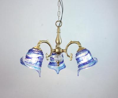ベネチアングラスシャンデリア  fc-531-calla-sbruffo-blue-lightblue