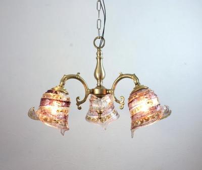 ベネチアングラスシャンデリア  fc-531-calla-sbruffo-amethyst-amber