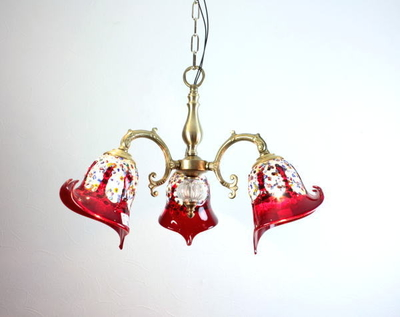 ベネチアングラスシャンデリア  fc-531-fantasy-calla-red
