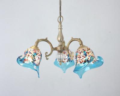 ベネチアングラスシャンデリア  fc-531-fantasy-calla-lightblue
