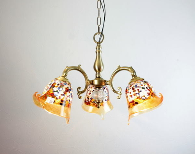 ベネチアングラスシャンデリア  fc-531-fantasy-calla-amber
