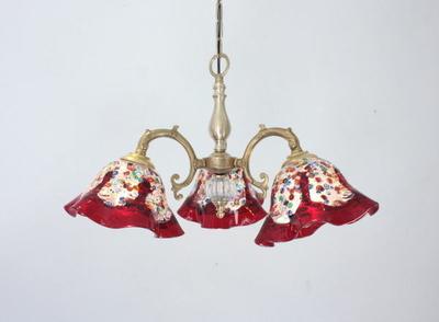 ベネチアングラスシャンデリア  fc-531-fantasy-smerlate-red