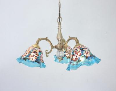 ベネチアングラスシャンデリア  fc-531-fantasy-smerlate-lightblue