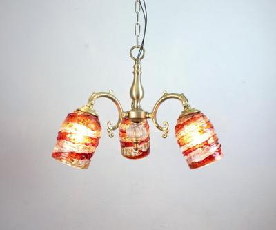 ベネチアングラスシャンデリア  fc-531-sbruffo-red-amber-amethyst