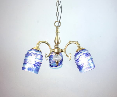 ベネチアングラスシャンデリア  fc-531-sbruffo-blue-lightblue