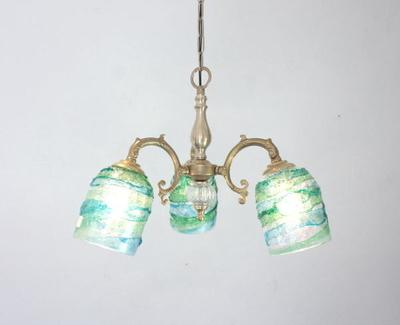 ベネチアングラスシャンデリア  fc-531-sbruffo-lightblue-green