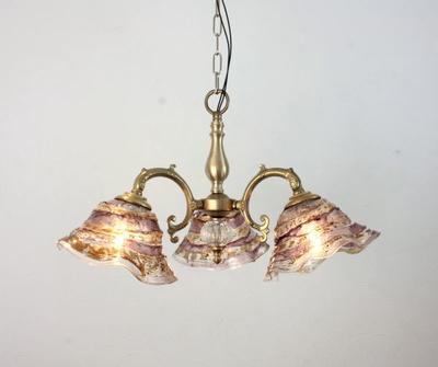 ベネチアングラスシャンデリア  fc-531-smerlate-sbruffo-amethyst-amber