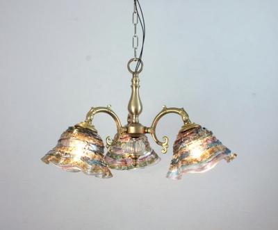 ベネチアングラスシャンデリア  fc-531-smerlate-sbruffo-amethyst-lightblue-amber