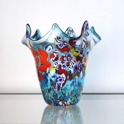 花瓶・flower base diec8lightblue