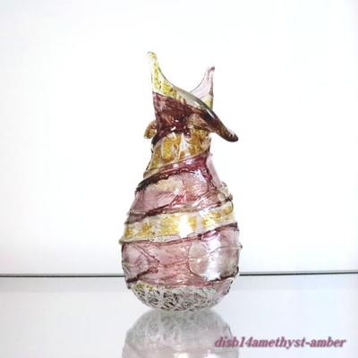 花瓶・flower base  品番.disb14amethyst-amber