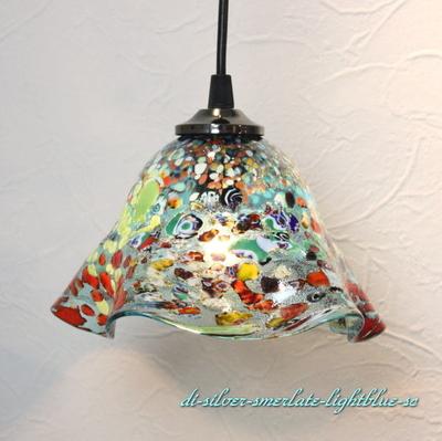 ベネチアングラスペンダントライト 品番.di-silver-smerlate-lightblue-sc