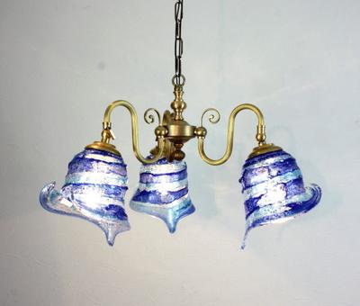 ベネチアングラスシャンデリア  fc-122-calla-sbruffo-blue-lightblue