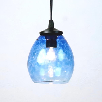 Azzurro Glass Studioペンダントランプ frit-blue-no10