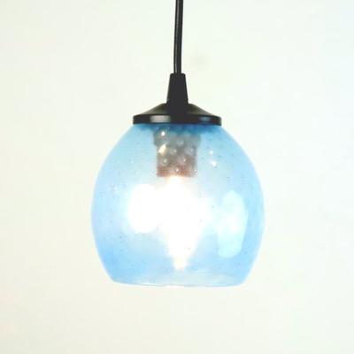 Azzurro Glass Studioペンダントランプ dot-aqua-blue-no7