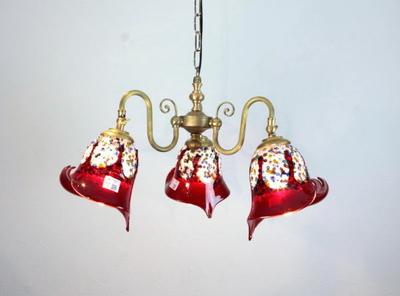 ベネチアングラスシャンデリア  fc-122-fantasy-calla-red