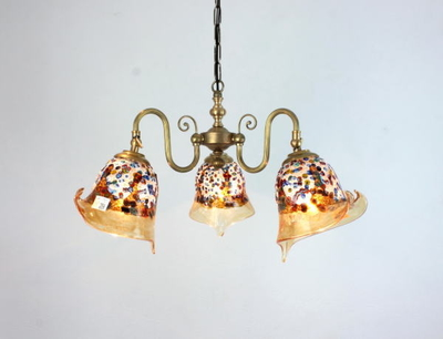 ベネチアングラスシャンデリア  fc-122-fantasy-calla-amber
