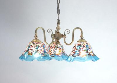 ベネチアングラスシャンデリア  fc-122-fantasy-smerlate-lightblue
