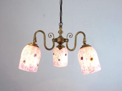 ベネチアングラスシャンデリア  fc-122-pasta2-white-pink