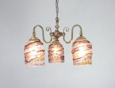 ベネチアングラスシャンデリア  fc-122-sbruffo-amethyst-amber