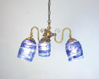 ベネチアングラスシャンデリア  fc-122-sbruffo-blue-lightblue