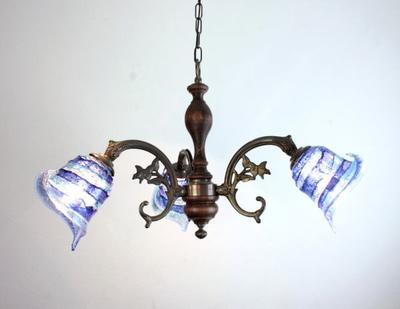 ベネチアングラスシャンデリア  fc-621-calla-sbruffo-blue-lightblue