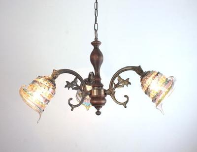 ベネチアングラスシャンデリア  fc-621-calla-sbruffo-amethyst-lightblue-amber