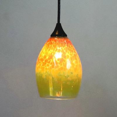 Azzurro Glass Studioペンダントランプ frit-irisyellow-no1