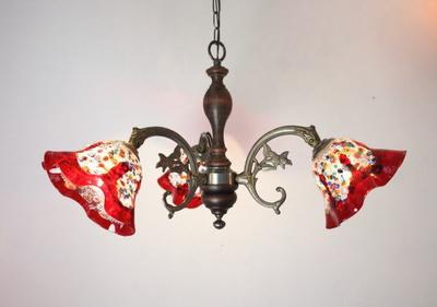 ベネチアングラスシャンデリア  fc-621-fantasy-smerlate-red