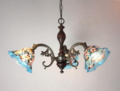 ベネチアングラスシャンデリア  fc-621-fantasy-smerlate-lightblue