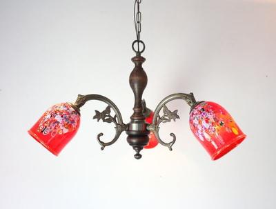 ベネチアングラスシャンデリア  fc-621-goti-p-goto-red