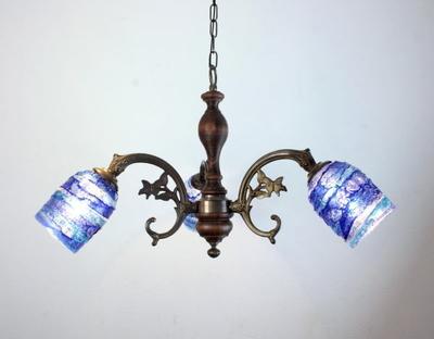 ベネチアングラスシャンデリア  fc-621-sbruffo-blue-lightblue