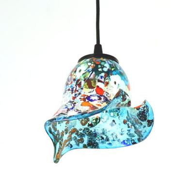 ベネチアングラスペンダントライト 品番.di-silver-calla-lightblue-sc