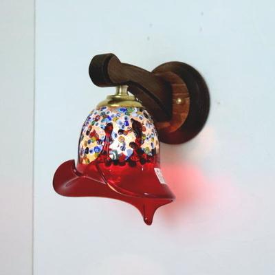 ベネチアングラスブラケットランプ fc-ww016g-fantasy-calla-red