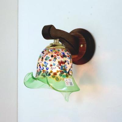ベネチアングラスブラケットランプ fc-ww016g-fantasy-calla-lightgreen