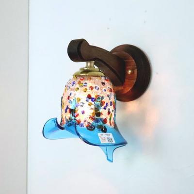 ベネチアングラスブラケットランプ fc-ww016g-fantasy-calla-lightblue
