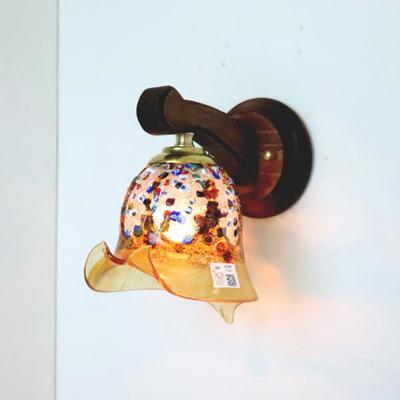 ベネチアングラスブラケットランプ fc-ww016g-fantasy-calla-amber