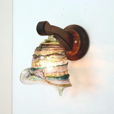 ベネチアングラスブラケットランプ fc-ww016g-calla-sbruffo-amethyst-lightblue-amber