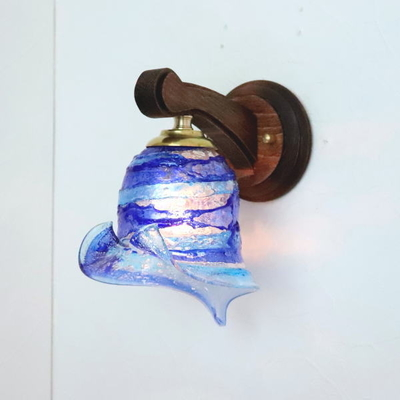 ベネチアングラスブラケットランプ fc-ww016g-calla-sbruffo-blue-lightblue
