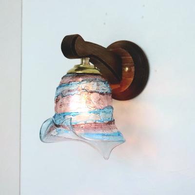 ベネチアングラスブラケットランプ fc-ww016g-calla-sbruffo-amethyst-lightblue