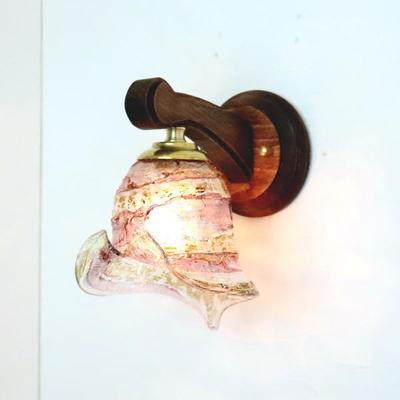 ベネチアングラスブラケットランプ fc-ww016g-calla-sbruffo-amethyst-amber