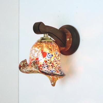 ベネチアングラスブラケットランプ fc-ww016g-silver-calla-amber