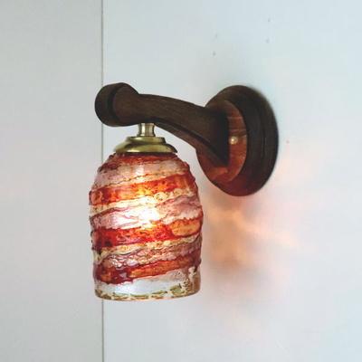 ベネチアングラスブラケットランプ fc-ww016g-sbruffo-red-amber-amethyst