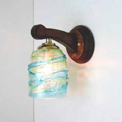 ベネチアングラスブラケットランプ fc-ww016g-sbruffo-lightblue-green