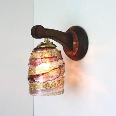 ベネチアングラスブラケットランプ fc-ww016g-sbruffo-amethyst-amber