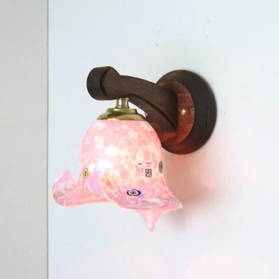 ベネチアングラスブラケットランプ fc-ww016g-pasta2-calla-white-pink