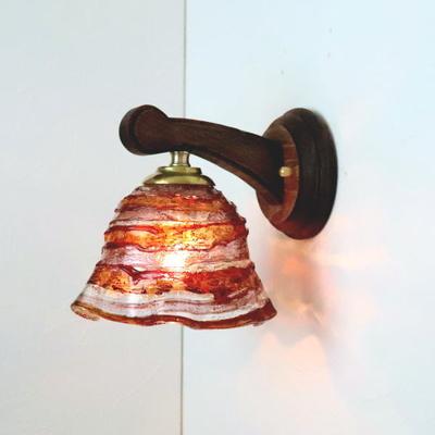 ベネチアングラスブラケットランプ fc-ww016g-smerlate-sbruffo-red-amber-amethyst