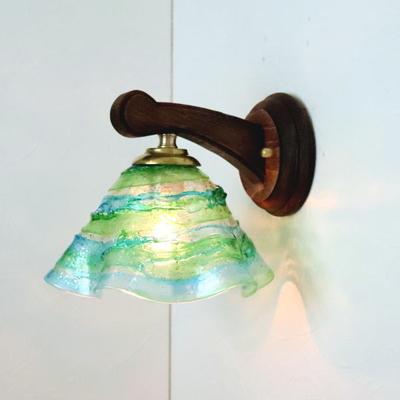 ベネチアングラスブラケットランプ fc-ww016g-smerlate-sbruffo-lightblue-green